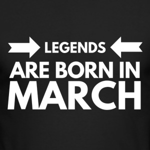 Legends Born March - Men's Long Sleeve T-Shirt by Next Level