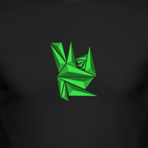 Green Neo Shards - Men's Long Sleeve T-Shirt by Next Level