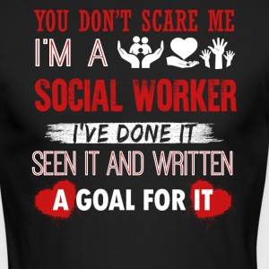 Can't Scare A Social Worker Shirt - Men's Long Sleeve T-Shirt by Next Level
