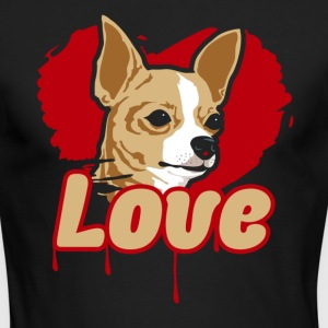 Chihuahua Love Shirt - Men's Long Sleeve T-Shirt by Next Level