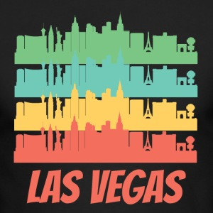 Retro Las Vegas NV Skyline Pop Art - Men's Long Sleeve T-Shirt by Next Level