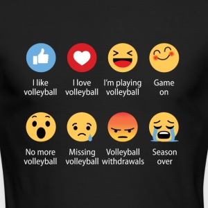 Volleyball emojication funny - Men's Long Sleeve T-Shirt by Next Level
