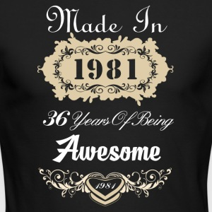 Made in 1981 36 years of being awesome - Men's Long Sleeve T-Shirt by Next Level