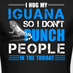 I Hug My Iguana Shirt - Men's Long Sleeve T-Shirt by Next Level