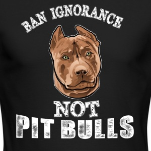 Ban ignorance not pit nulls - Men's Long Sleeve T-Shirt by Next Level