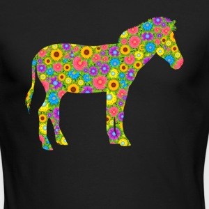 Zebra Flower Shirt - Men's Long Sleeve T-Shirt by Next Level