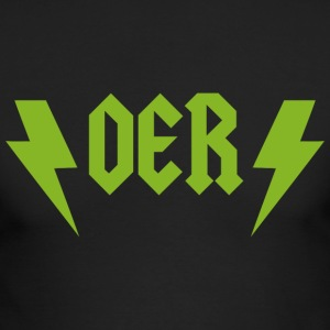 OER Rocks (Green) - Men's Long Sleeve T-Shirt by Next Level