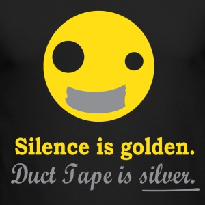 Silence is Golden - Men's Long Sleeve T-Shirt by Next Level