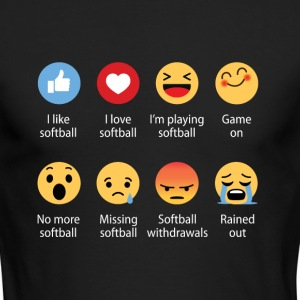 Softball emojication funny - Men's Long Sleeve T-Shirt by Next Level