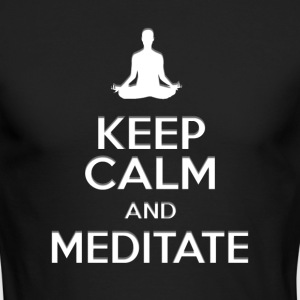 keep calm and meditate, Yoga meditation gifts - Men's Long Sleeve T-Shirt by Next Level