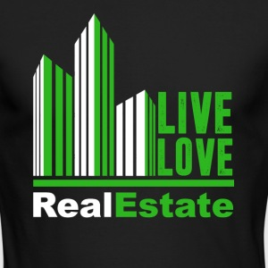 Live Love Real Estate T Shirts - Men's Long Sleeve T-Shirt by Next Level