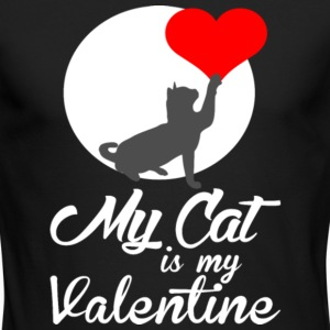 My Cat Is My Valentine T Shirt - Men's Long Sleeve T-Shirt by Next Level