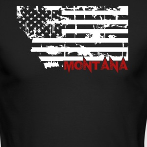 Montana Flag Shirt - Men's Long Sleeve T-Shirt by Next Level