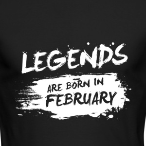 Legends are born in February - Men's Long Sleeve T-Shirt by Next Level