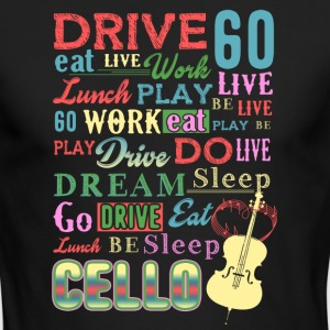 CELLO GIFT MUSIC LIFE SHIRT - Men's Long Sleeve T-Shirt by Next Level