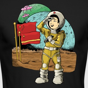 Chinese Space Boy - Men's Long Sleeve T-Shirt by Next Level