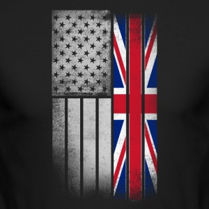 British American Flag - Men's Long Sleeve T-Shirt by Next Level
