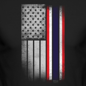Thai American Flag - Men's Long Sleeve T-Shirt by Next Level