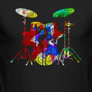 Funny Drum Set Shirt - Men's Long Sleeve T-Shirt by Next Level