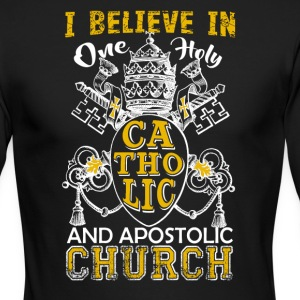 Believe In One Holy Catholic Shirt - Men's Long Sleeve T-Shirt by Next Level