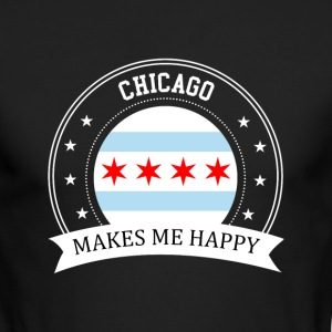 Chicago Makes Me Happy - Men's Long Sleeve T-Shirt by Next Level