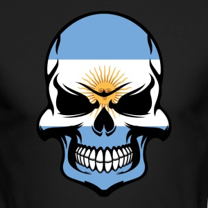 Argentinian Flag Skull Cool Argentina Skull - Men's Long Sleeve T-Shirt by Next Level