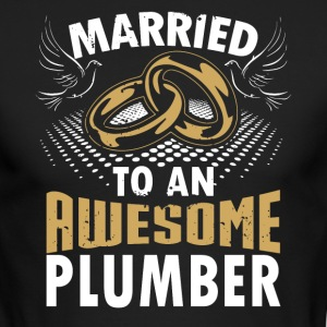 Married To An Awesome Plumber - Men's Long Sleeve T-Shirt by Next Level