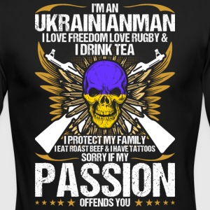Im An Ukrainianman I Love Freedom Love Rugby - Men's Long Sleeve T-Shirt by Next Level
