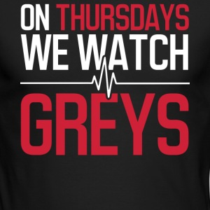 On thursdays we watch greys - Men's Long Sleeve T-Shirt by Next Level