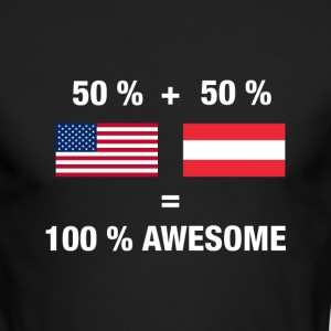 Half Austrian Half American 100% Awesome Flag Aust - Men's Long Sleeve T-Shirt by Next Level