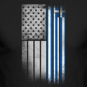 Greek American Flag - Men's Long Sleeve T-Shirt by Next Level