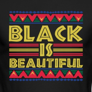Black is Beautiful: African American T-Shirt - Men's Long Sleeve T-Shirt by Next Level