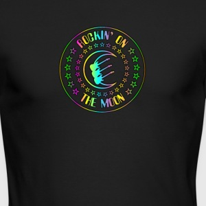 Rockin' On The Moon Colorful - Men's Long Sleeve T-Shirt by Next Level