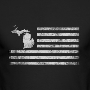 Michigan State United States Flag Vintage USA - Men's Long Sleeve T-Shirt by Next Level