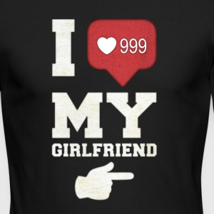 I love my girlfriend - Men's Long Sleeve T-Shirt by Next Level