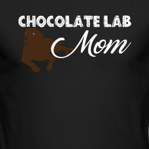 Chocolate Lab Mom Shirt - Men's Long Sleeve T-Shirt by Next Level
