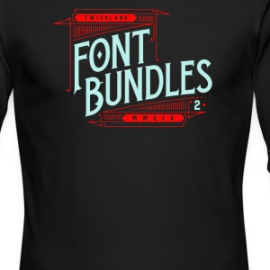 Font bundles - Men's Long Sleeve T-Shirt by Next Level