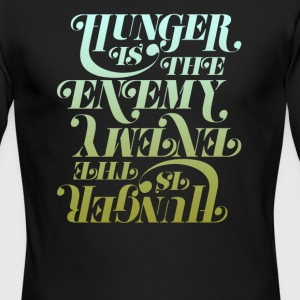Hunger is the enemy - Men's Long Sleeve T-Shirt by Next Level