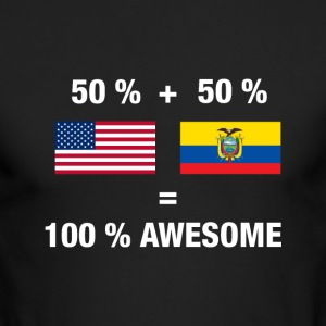 Half Ecuadorean Half American 100% Ecuador - Men's Long Sleeve T-Shirt by Next Level