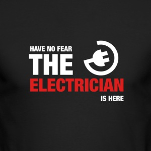 Have No Fear The Electrician Is Here - Men's Long Sleeve T-Shirt by Next Level