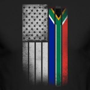 South African American Flag - Men's Long Sleeve T-Shirt by Next Level