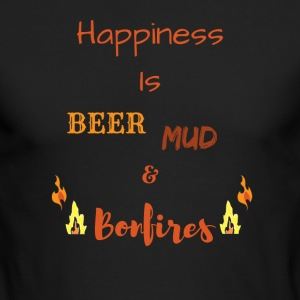 Happiness is Country Life - Men's Long Sleeve T-Shirt by Next Level