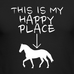 Happy Place Horse Riding - Men's Long Sleeve T-Shirt by Next Level