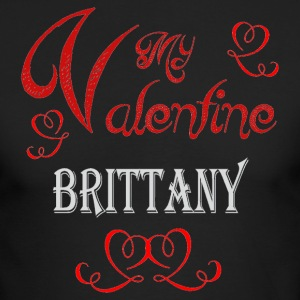 A romantic Valentine with my Brittany - Men's Long Sleeve T-Shirt by Next Level