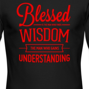 Bllesed wisdom understanding - Men's Long Sleeve T-Shirt by Next Level