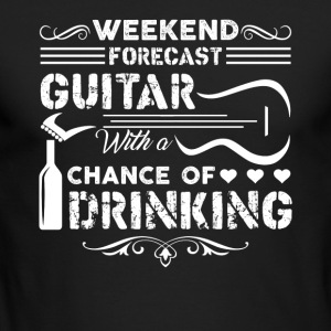 Weekend Forecast Guitar Shirt - Men's Long Sleeve T-Shirt by Next Level