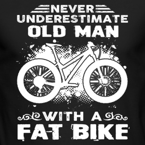 Old Man With Fat Bike Shirt - Men's Long Sleeve T-Shirt by Next Level