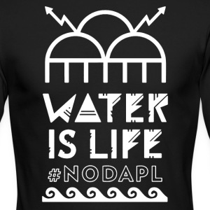 Water Is Life Shirt - Men's Long Sleeve T-Shirt by Next Level