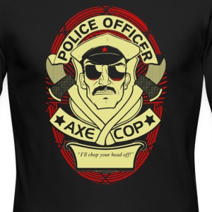 Police officer axe cop - Men's Long Sleeve T-Shirt by Next Level