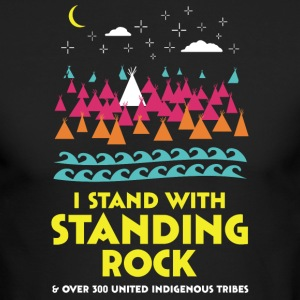 Stand With Standing Rock Shirt - Men's Long Sleeve T-Shirt by Next Level